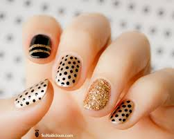 31 brilliant gold and black nail art u2013 slybury com