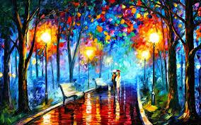 j santa lights umbrella painting