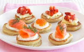 bellini canape blini topping ideas brilliant maine