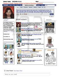 hunger games lessons using the facebook concept for a modern