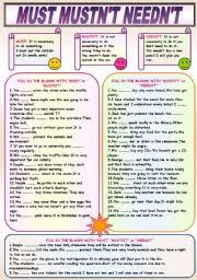 modal verbs esl printable worksheets and exercises