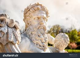 marble statue greek god cornucopia his stock photo 627952256