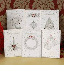 handmade christmas cards christmas glitter greeting card set of 18 handmade christmas cards
