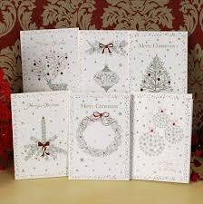 handmade christmas cards christmas glitter greeting card set of 18 handmade christmas cards