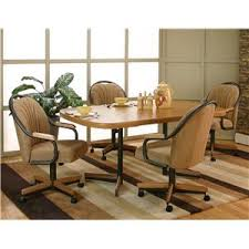 Kitchen Table Swivel Chairs by Cramco Inc Shaw Bow End Sunset Oak Laminate Dining Table With 4
