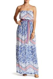 green dragon strapless paisley maxi dress nordstrom rack