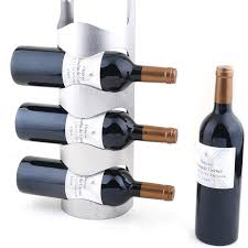 2016 new stainless steel wall mounted wine rack wine bottle rack