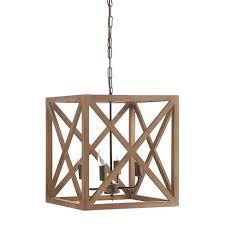 Wood Chandelier Metal Wood Chandelier Target