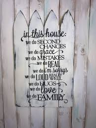 family rules sign in this house picket fence sign family rules