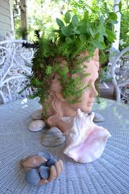 face planters 177 best garden ladies heads u0026 faces images on pinterest head