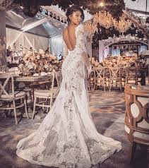 backless wedding dresses vera wang eniko parrish marries kevin hart in two different sheer wedding