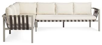 Dot Patio Furniture by Blu Dot Jibe Outdoor Xl Left Sectional Sofa Grey Sunbrella