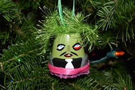 old gregg inspired christmas ornament mighty boosh character
