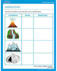 landform chart u2013 free social studies printable worksheet for fifth