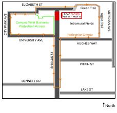 Elizabeth Colorado Map by Shields Street Closure Extended Until April 3 Source Colorado