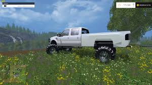 Ford Diesel Trucks Lifted - f350 ford diesel lifted white fs15 farming simulator 2017 2015