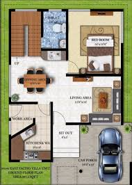 30 X 30 House Plans Floor Plan Balaboomi City 3040 House 3d East Facing 0 Luxihome