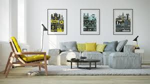 hellgraues sofa 25 wohnzimmer ideen einrichten mit gelben akzenten