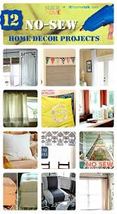 Diy Sewing Projects Home Decor 86 Best No Sew Projects Images On Pinterest Fabric Crafts No