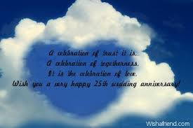 25th Anniversary Wishes Silver Jubilee 25th Anniversary Messages