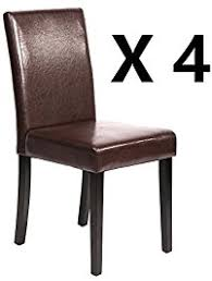 Leather Dining Room Chairs by Kitchen U0026 Dining Room Chairs Amazon Com