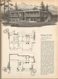 vintage house plans mid century homes house plans pinterest