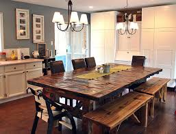 Lovely Rustic Kitchen Table With Bench Rustic Kitchen Tables Cedar - Rustic wood kitchen tables