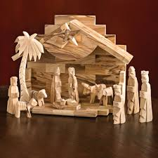 handcrafted olive wood nativity set national geographic store
