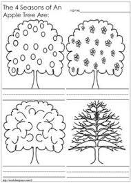 four seasons colouring page saison automne pinterest
