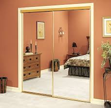 Mirror Doors For Closet Mirrored Bypass Closet Doors Designs School