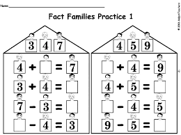 number fact families fact family house with children math fact families