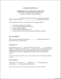 consulting contract template free business consultant agreement