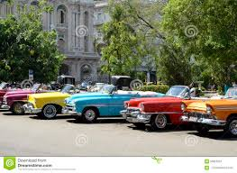 vintage convertible vintage convertible cars of different colours in havana cuba