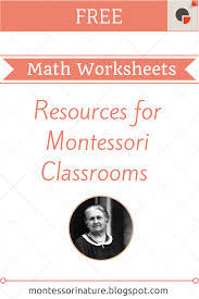 free montessori math worksheets montessori nature