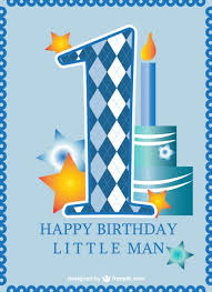 1st birthday for boys birthday card baby boy vector free