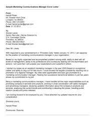 Sample Resume For Marketing Coordinator 100 Cover Letter For Job Application For Marketing Manager