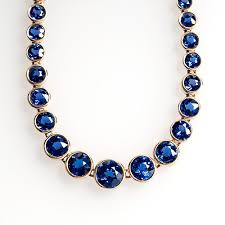 blue sapphire necklace sets images Yogo gulch montana sapphire necklace bracelet set 14k gold jpg