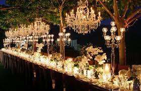 outdoor wedding decorations outdoor wedding decorations chandeliers weddingelation intended
