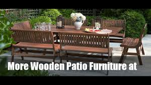 Wooden Patio Furniture Wood Patio Furniture Images Video Youtube