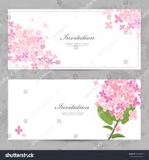 Beautiful Invitation Cards Invitation Cards Beautiful Flowers Your Design Stock Vector