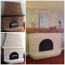 diy whitewash a brick fireplace fireplace makeover before