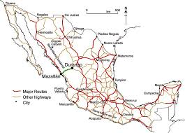 mexico toll road map mexico s road geo mexico the geography of mexico