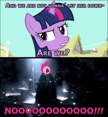 Nooo Meme - big nooo my little pony friendship is magic know your meme