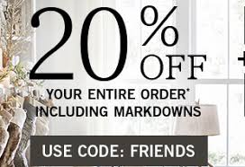 pottery barn friends u0026 family event 20 off your order