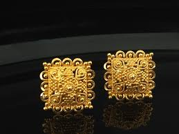 gold earrings online 22k gold stud earrings 4 5 grams indian kundan islamic and