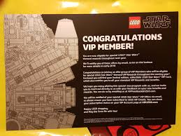 Star Wars Congratulations Card Millennium Falcon Launch Event Report Brickset Lego Set Guide