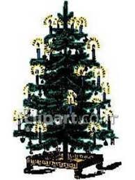 fashioned christmas tree fashioned christmas tree royalty free clipart picture