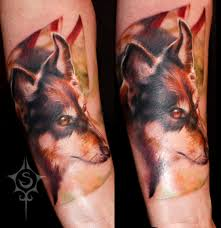 dog memorial tattoo by illogan on deviantart