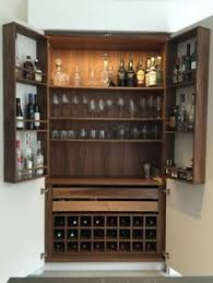 Hotel Mini Bar Cabinet Geometric Copper Drinks Bar And Cabinet Dark Grey Sycamore