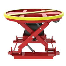 used electric lift table factory warehouse rotating electric scissor lift table used indoor